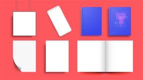 Insieme del modello di identità di RGBCorporate Progettazione marcante a caldo royalty illustrazione gratis