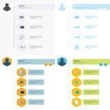Insieme del modello di Infographic di cronologia Immagini Stock
