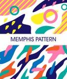 Insieme del modello di Memphis sottragga la priorità bassa immagine stock libera da diritti