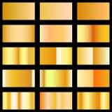 Insieme del modello di pendenze di struttura dell'oro per la vostra progettazione Immagine Stock