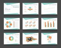 Insieme del modello di presentazione di affari di Infographic ambiti di provenienza di progettazione del modello di PowerPoint Immagine Stock