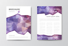 Insieme del modello di progettazione dell'opuscolo con gli ambiti di provenienza triangolari Fotografia Stock