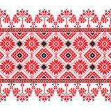 Insieme del modello etnico dell'ornamento nei colori rossi e in bianco e nero Immagine Stock Libera da Diritti