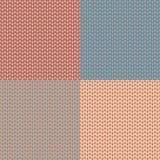 Insieme del modello tricottato Panno della lana Struttura del Knit Illustrazione di vettore illustrazione vettoriale