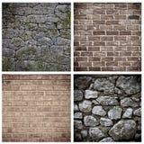 Insieme del muro di mattoni Fotografia Stock Libera da Diritti