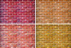 Insieme del muro di mattoni Fotografie Stock Libere da Diritti