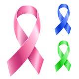 Insieme del nastro del Cancro Fotografia Stock Libera da Diritti