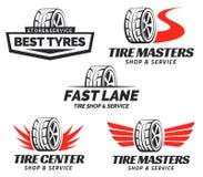 Insieme del negozio Logo Design di Tiro Immagini Stock