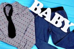 Insieme del neonato di abito elegante Immagine Stock Libera da Diritti