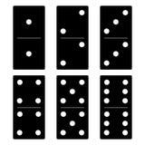 Insieme del nero di domino Immagini Stock