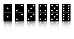 Insieme del nero di domino Fotografia Stock Libera da Diritti