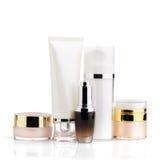 Insieme del pacchetto cosmetico in bianco per progettazione del modello Fotografia Stock Libera da Diritti