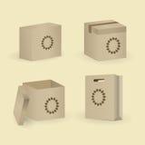 Insieme del pacchetto e della scatola Illustrazione di vettore Fotografie Stock