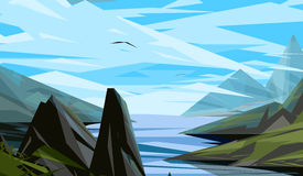Insieme del paesaggio della natura Royalty Illustrazione gratis
