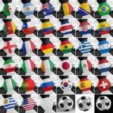 Insieme del pallone da calcio Fotografia Stock Libera da Diritti