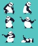 Insieme del panda del fumetto Immagine Stock Libera da Diritti