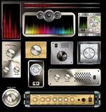 Insieme del pannello di controllo Fotografie Stock Libere da Diritti