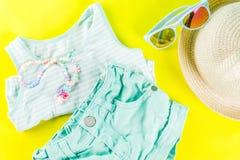 Insieme del panno dei bambini di estate Immagine Stock Libera da Diritti