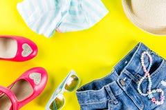 Insieme del panno dei bambini di estate Fotografia Stock