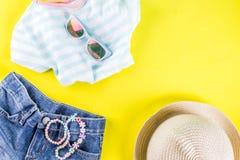 Insieme del panno dei bambini di estate Fotografia Stock Libera da Diritti