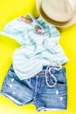 Insieme del panno dei bambini di estate Immagini Stock Libere da Diritti