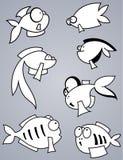 Insieme del pesce illustrazione vettoriale
