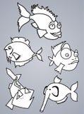 Insieme del pesce illustrazione di stock