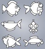 Insieme del pesce Immagine Stock Libera da Diritti