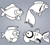 Insieme del pesce Fotografie Stock