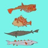 Insieme del pesce del fumetto royalty illustrazione gratis