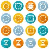 Insieme del piano dell'icona dell'orologio illustrazione vettoriale