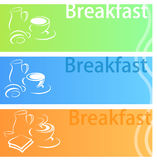 Insieme del piano dell'insegna della prima colazione royalty illustrazione gratis