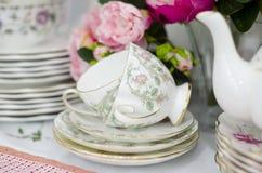 Insieme del piattino della tazza Fotografia Stock