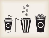 Insieme del popcorn di vettore Fotografie Stock Libere da Diritti
