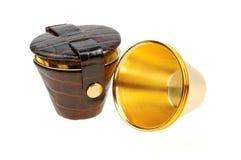 Insieme del Portable delle tazze per alcool Fotografia Stock
