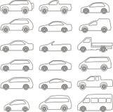 Insieme del profilo dell'automobile Immagine Stock