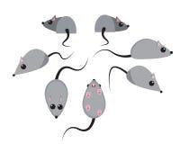 Insieme del ratto nello stile piano illustrazione di stock