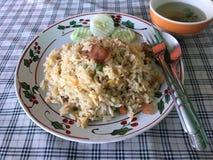 Insieme del riso fritto Fotografie Stock Libere da Diritti