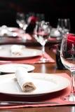 Insieme del ristorante Fotografia Stock