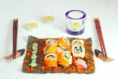 Insieme del rotolo di sushi Fotografie Stock