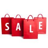 Insieme del sacchetto della spesa di vendita fotografie stock libere da diritti