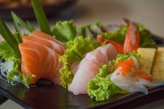 Insieme del sashimi del Giappone Fotografia Stock