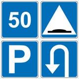 Insieme del segnale stradale di traffico Illustrazione di vettore Fotografie Stock Libere da Diritti