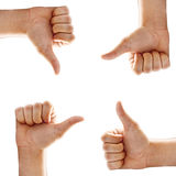 Insieme del segno della mano Fotografie Stock Libere da Diritti