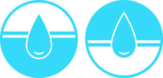 Insieme del segno di goccia dell'acqua Immagine Stock