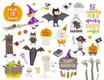 Insieme del segno e del simbolo di Halloween royalty illustrazione gratis