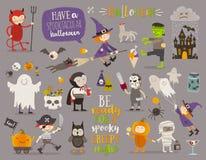 Insieme del segno e del simbolo di Halloween illustrazione vettoriale