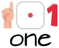 Insieme del simbolo di numero uno illustrazione vettoriale