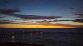Insieme del sole dell'oceano dell'Australia Meridionale Fotografia Stock Libera da Diritti
