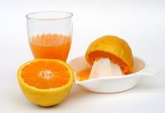 Insieme del succo di arancia Fotografia Stock Libera da Diritti